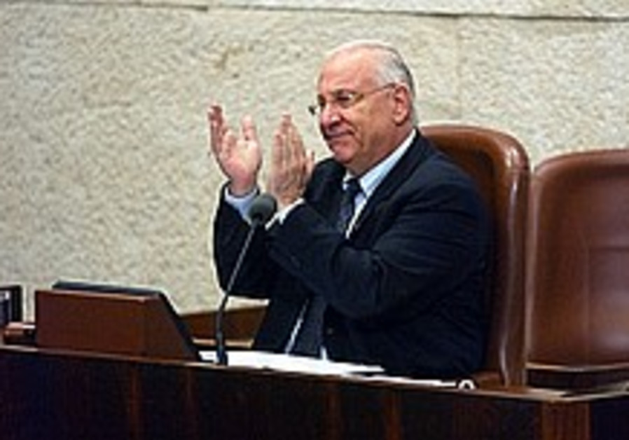 reuvin rivlin claps in the knesset 224