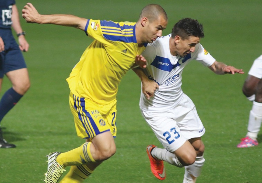 Maccabi Tel Aviv midfielder Gili Vermouth (left) will hope to improve on his mediocre debut