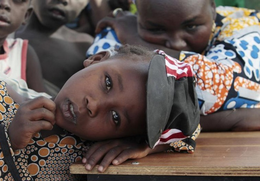 A girl displaced as a result of Boko Haram attack in the northeast region of Nigeria
