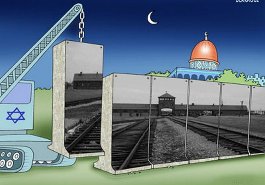 An anti-Semitic cartoon displayed at a contest in Iran