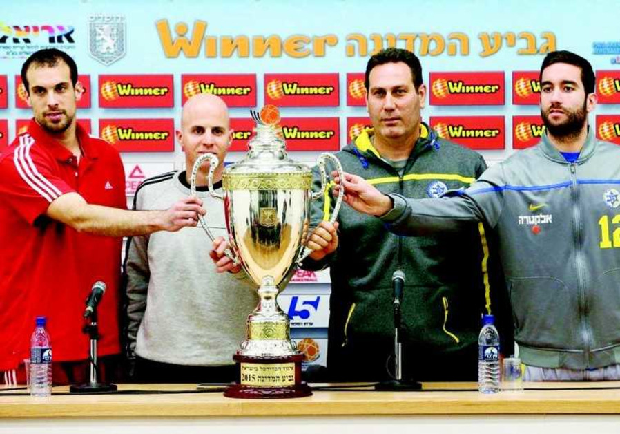 Hap J'lem's Danny Franco and Yotam Halperin and Mac TA's Guy Goodes and Yogev Ohayon