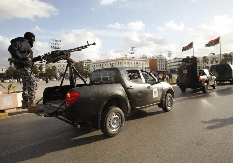 Libyan police in Tripoli