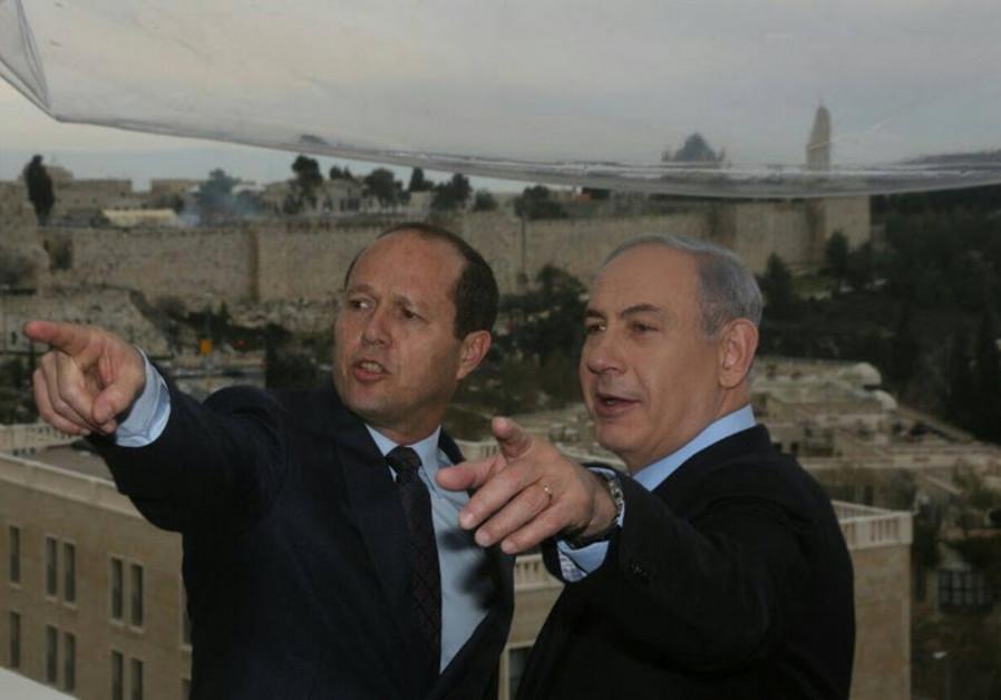 Benjamin Netanyahu and Nir Barkat