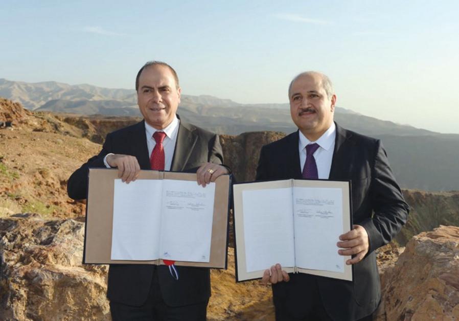 water deal israel jordan