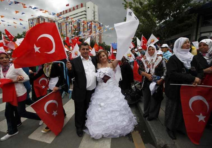 Turkish bride and groom.