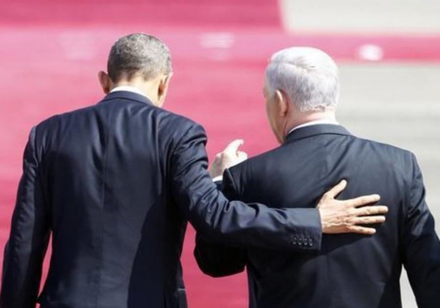 US President Barack Obama and Prime Minister Benjamin Netanyahu.