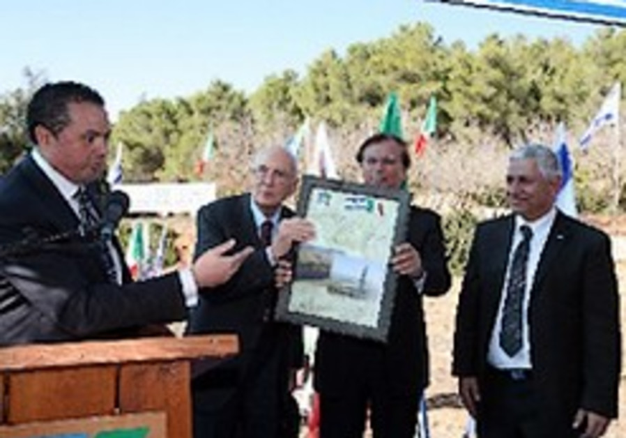 Italian President plants an olive tree in The Grove of Nations