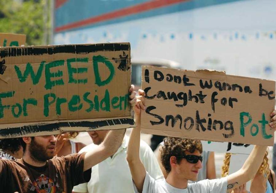 Marijuana demonstration