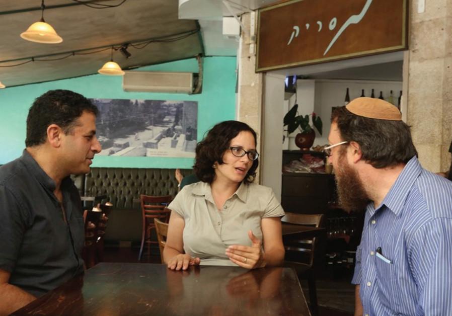 City councillors Tamir Nir, Rachel Azaria and Aaron Leibowitz.