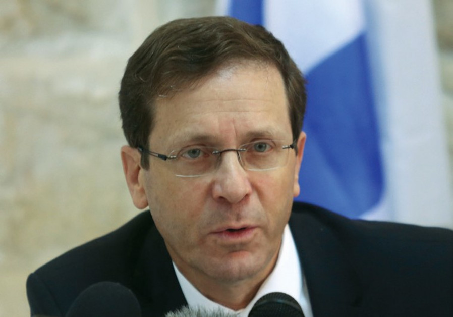 herzog speaking to reporters