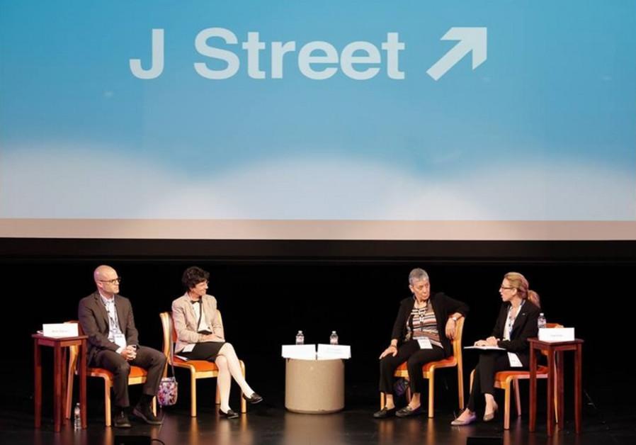 A J Street panel meeting