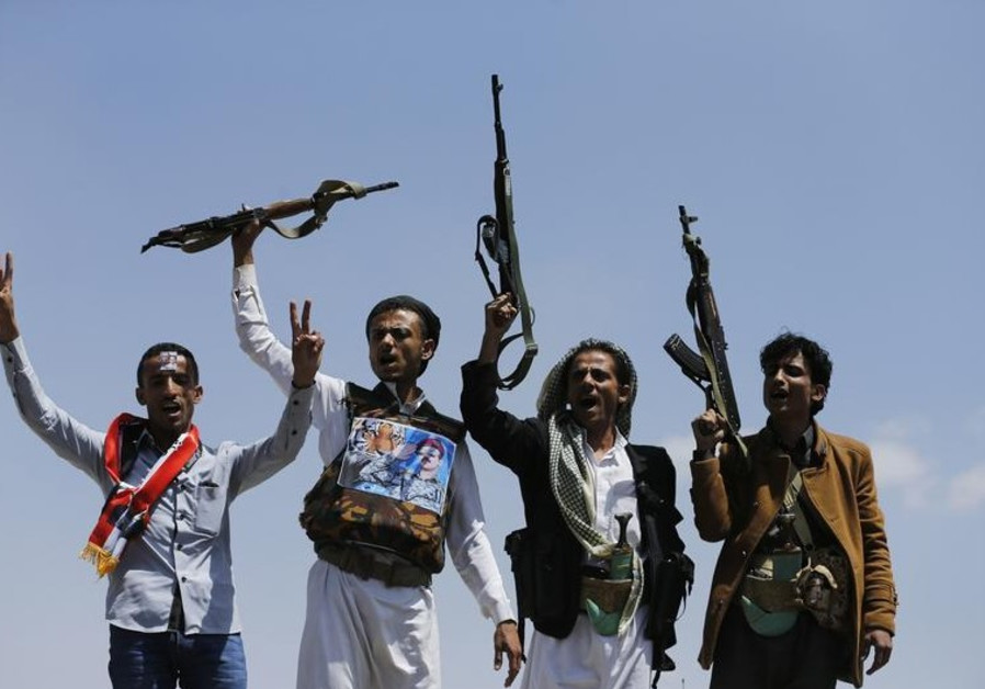 Supporters of Ahmed Ali Abdullah Saleh, the son of Yemen's former President Ali Abdullah Saleh