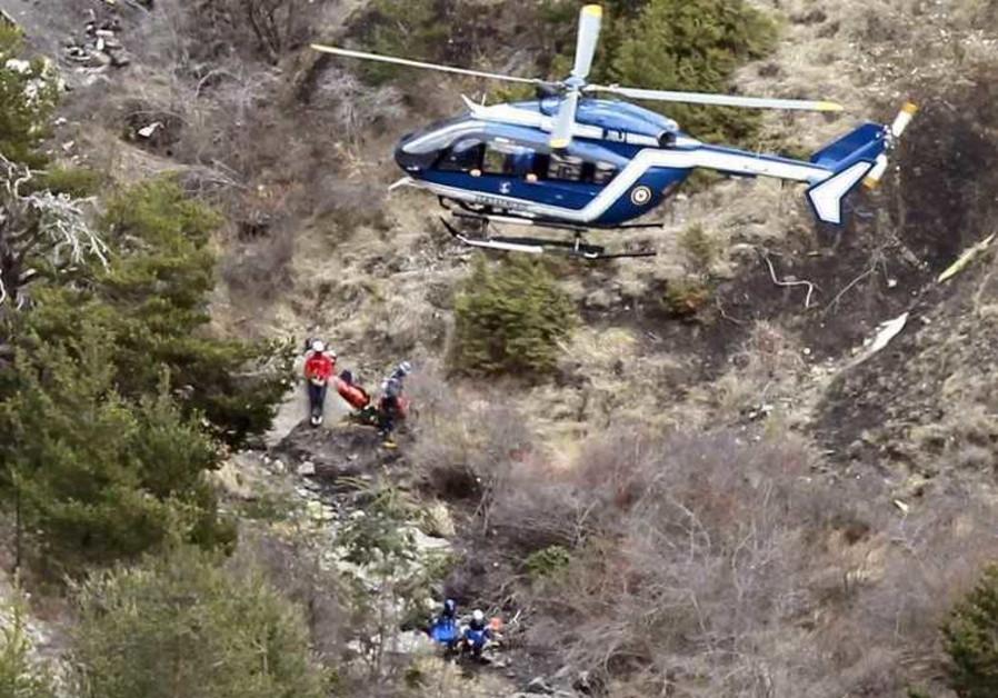 Crash site of a Germanwings Airbus A320, near Seyne-les-Alpes, March 25, 2015.