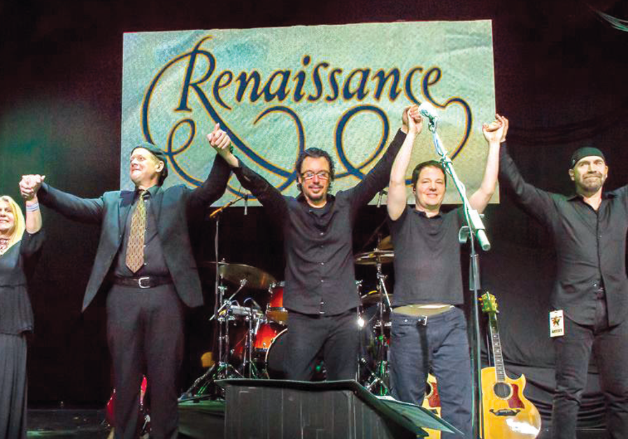 RENAISSANCE VOCALIST Annie Haslam (2nd from left) seen here with the rest of the band in 2014.