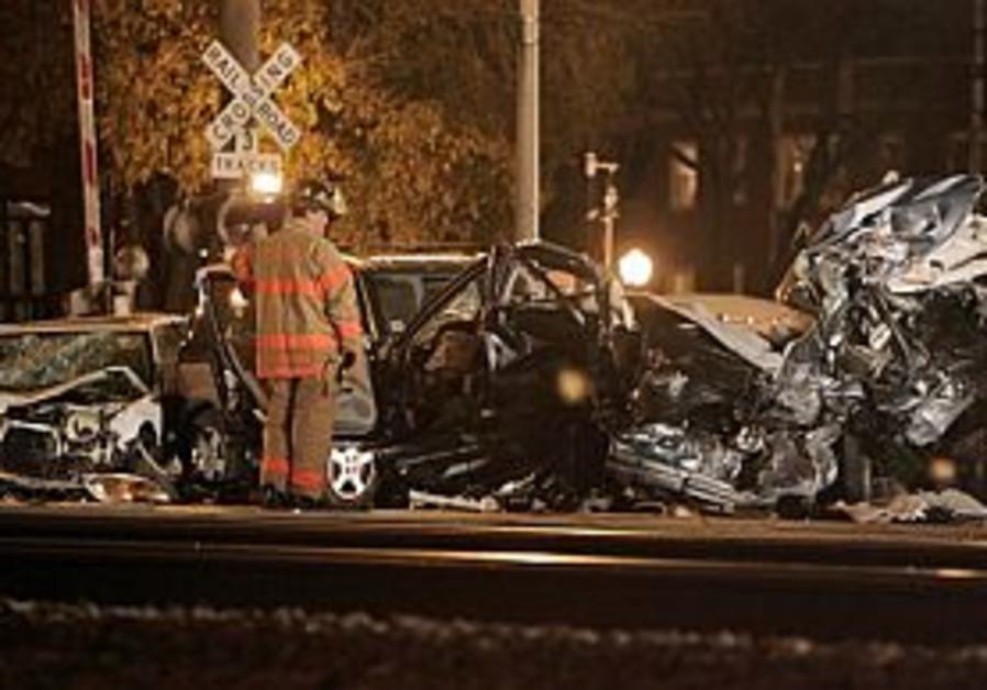 Chicago train hits 5 cars; 13 injured