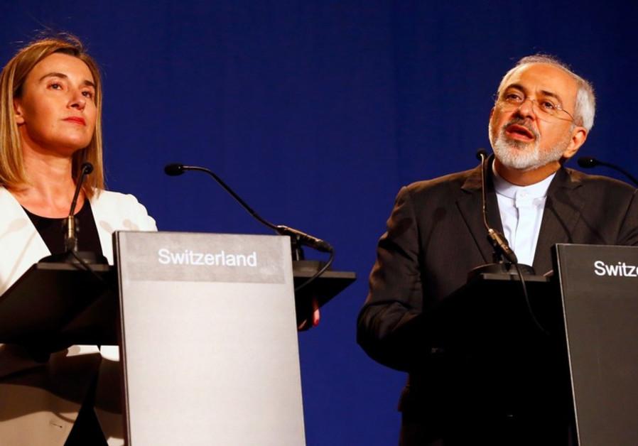 Eu's Mogherini and Iran's Zarif, April 2, 2015
