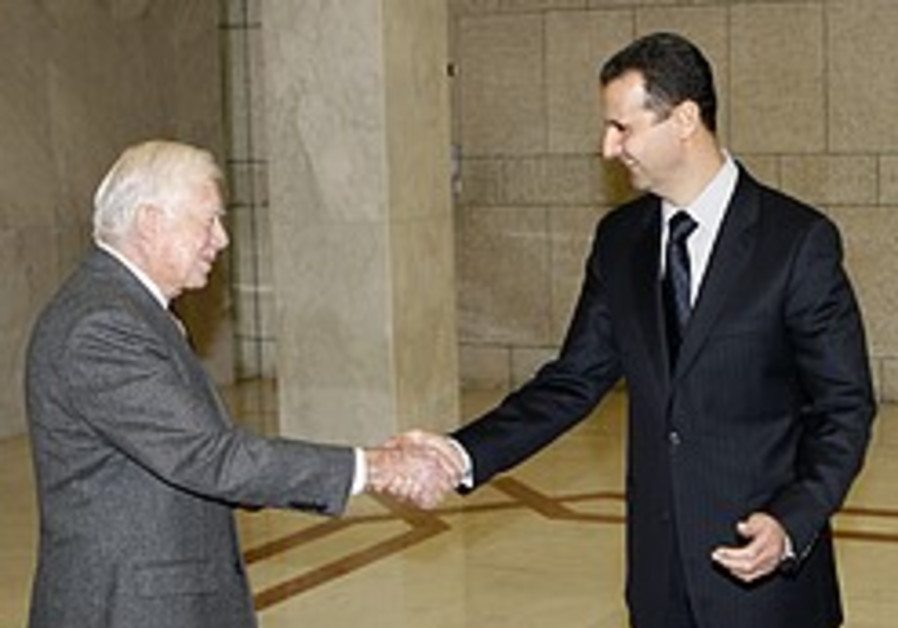 Jimmy Carter: US close to restoring diplomatic ties with Syria
