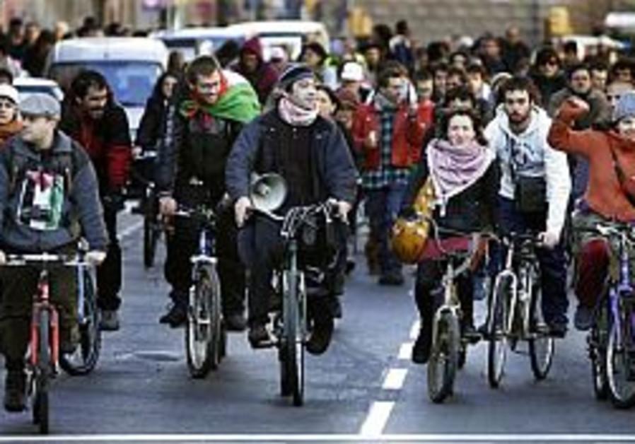 anti-israel demonstrators at euromed 298 88 ap