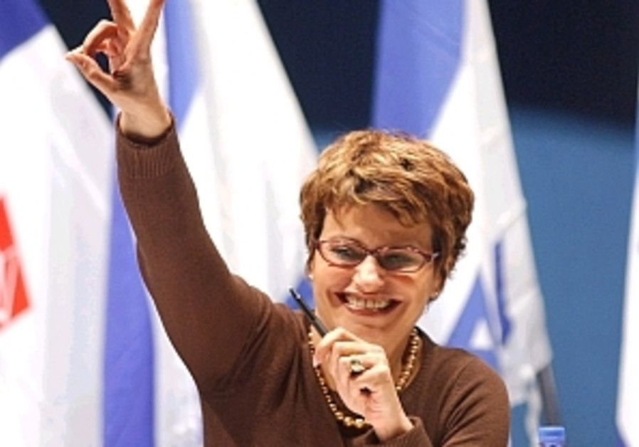 Itzik poised to become first female Knesset Speaker