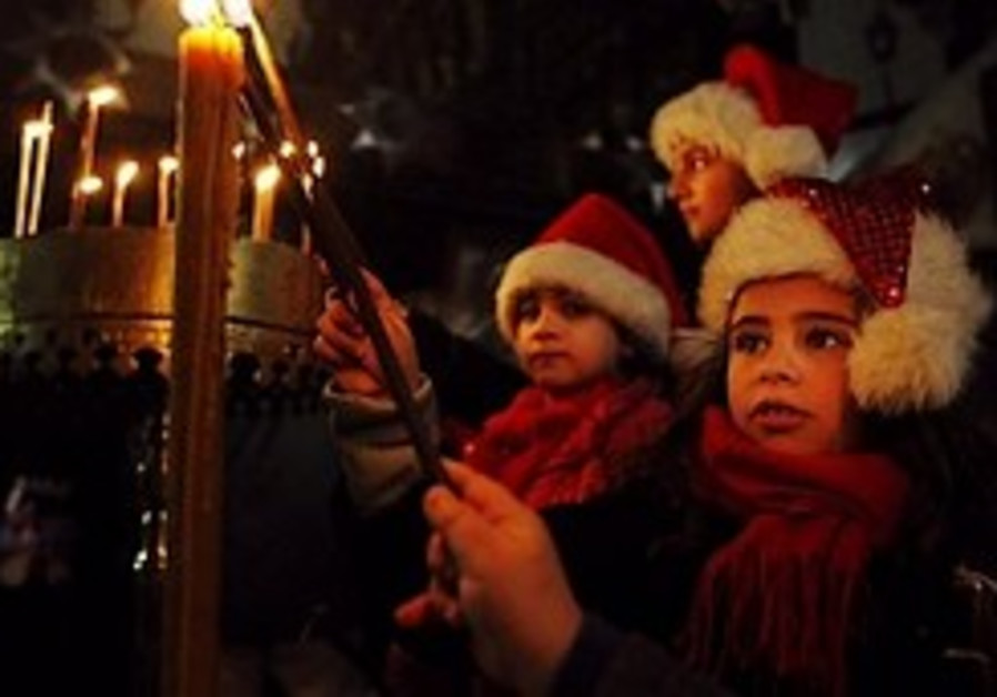 Christians celebrate Christmas in Bethlehem