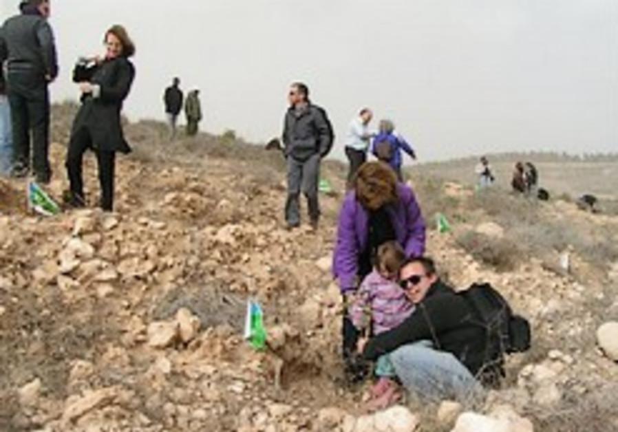 """Restoring the desert to life dedication of the """"Teva"""" Forest, Negev"""