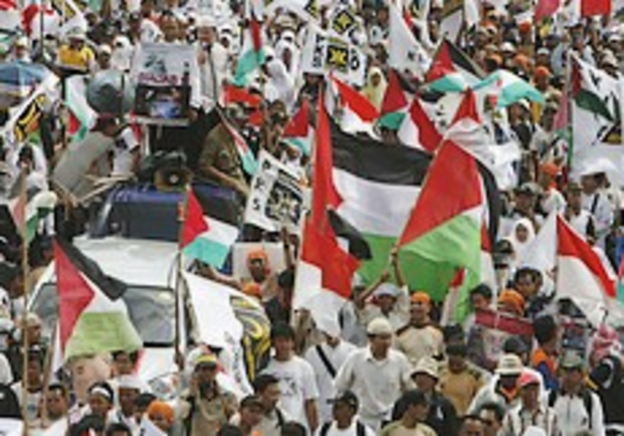 Thousands of Indonesians stage anti-Israel rally