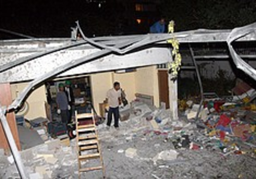 Rocket slams into Ashdod kindergarten