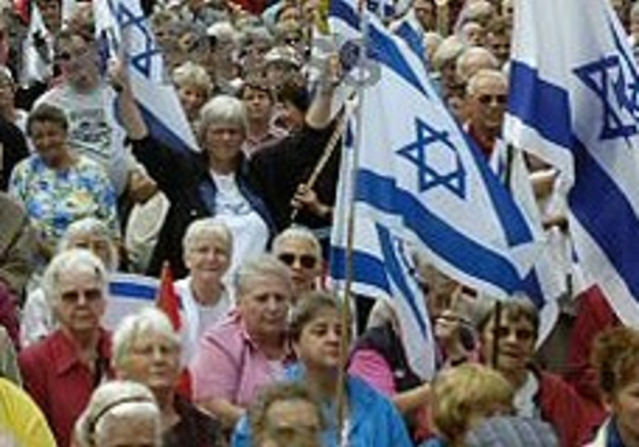 British Jews come out to support Israel