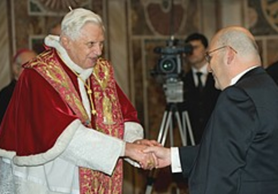 Pope, JNF head agree Jews and Christians should work together for peace