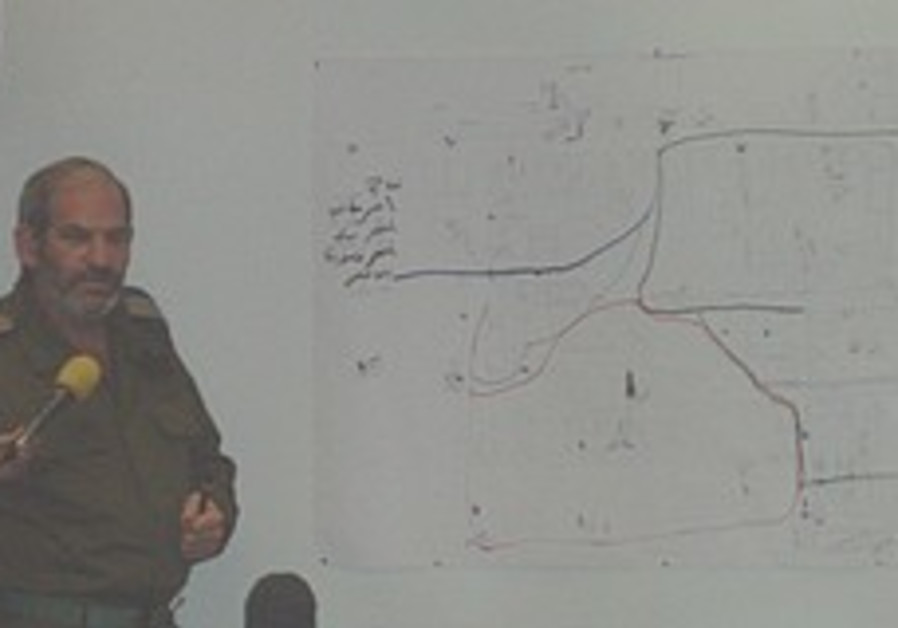 IDF unveils Hamas map seized in Gaza
