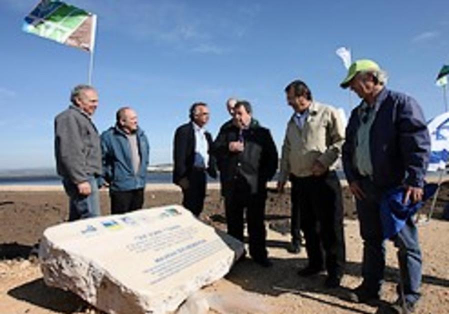 As Israel's water crisis worsens KKL-JNF dedicates the Ma'ayan Tzvi water reservoir