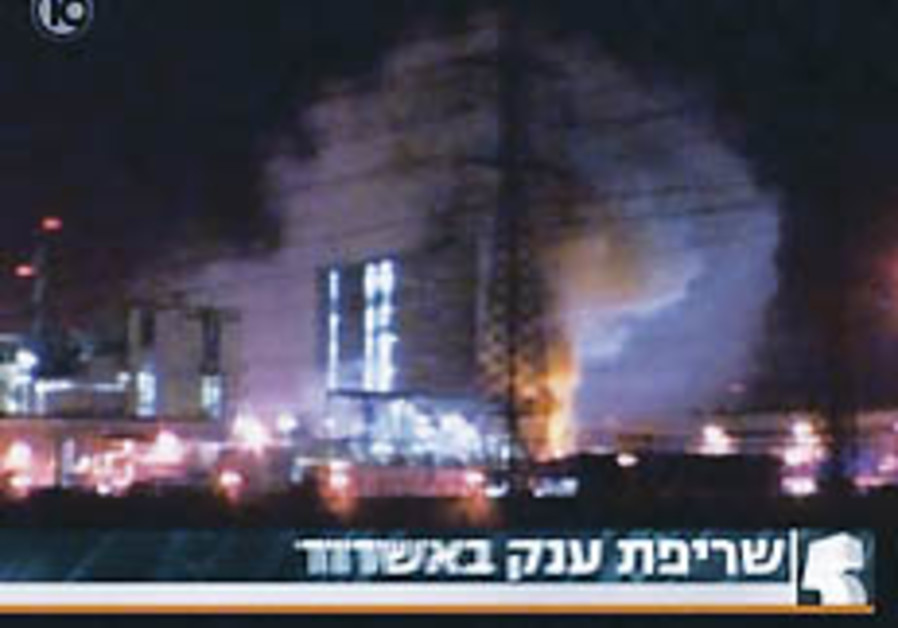 Ashdod chemical factory blaze probe handed over to Green Police