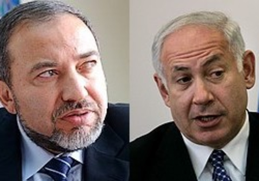 Avigdor Liberman and Binyamin Netanyahu