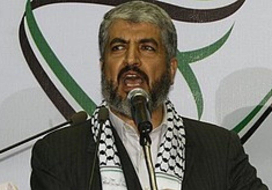 Mashaal re-elected Hamas political chief
