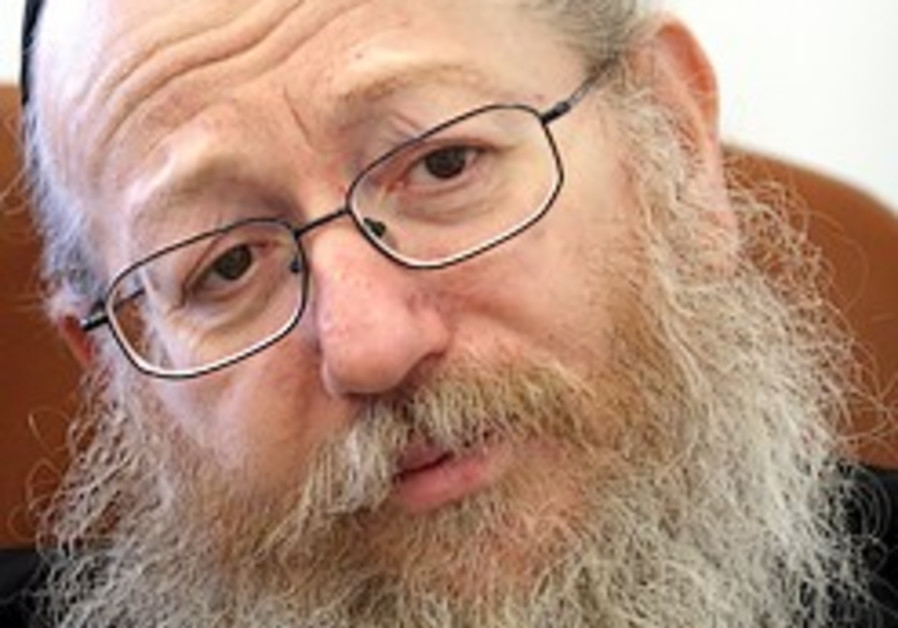 Rabbi approves Litzman's appointment as deputy Health Minister