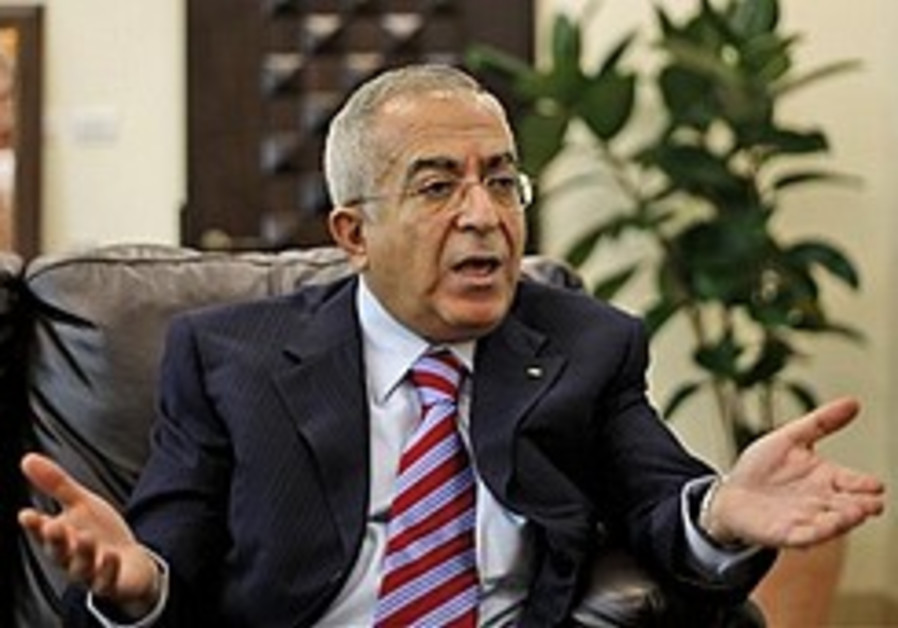 Fayad: Palestinian state within 2 years