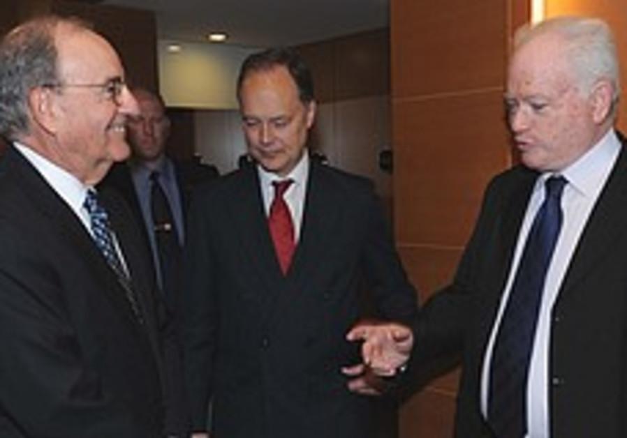 Barak, Mitchell talk regional security in TA