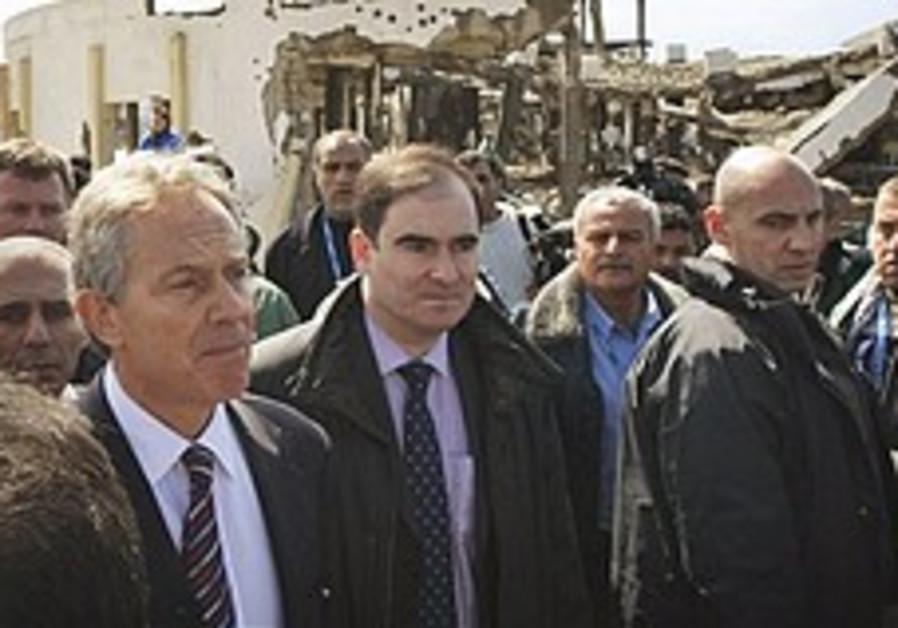 Mideast envoy Tony Blair visits Gaza