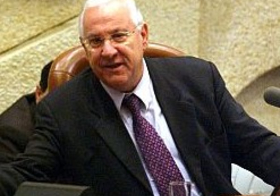 reuven rivlin in his podium seat at knesset 298