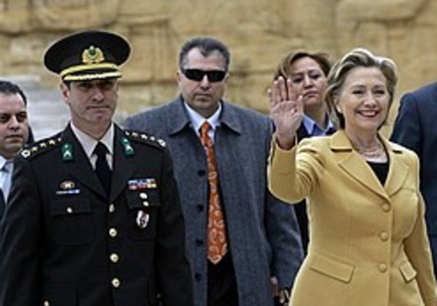 Clinton: 2 US officials visiting Syria