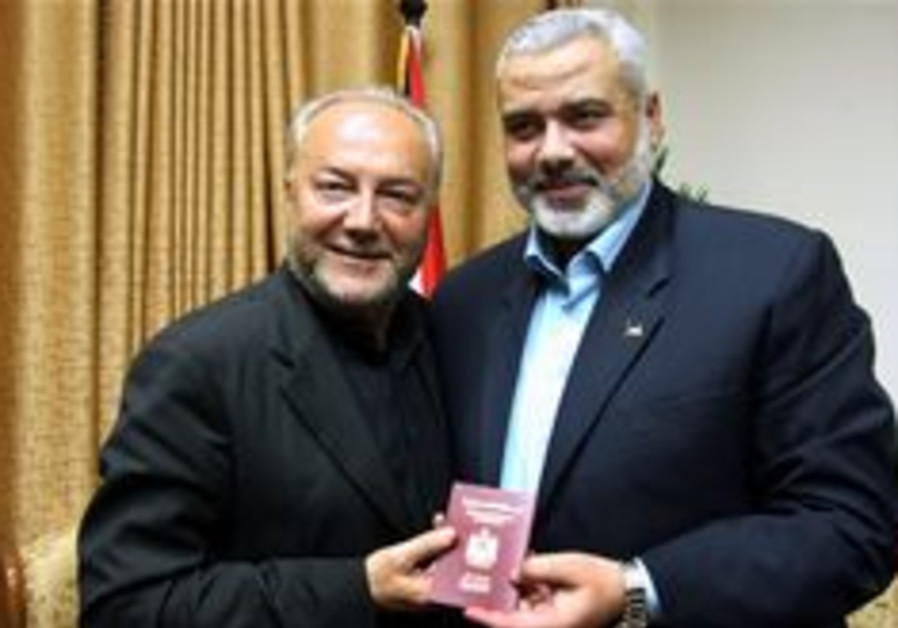 Galloway secretly meets with Haniyeh