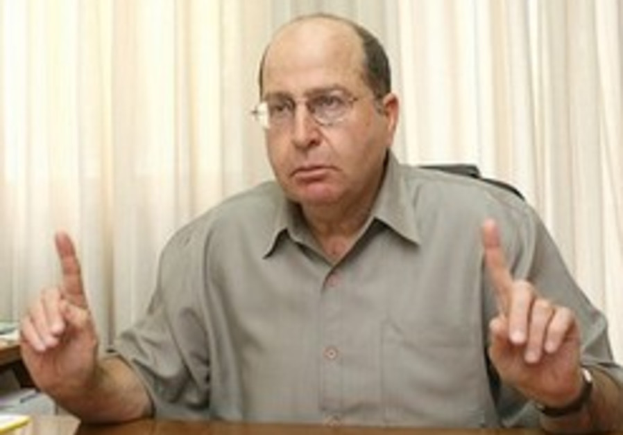 Ya'alon: 'Palestinian entity cannot be formed'