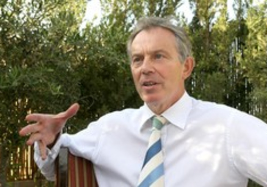 Blair: Palestinian state can be built from 'bottom up'