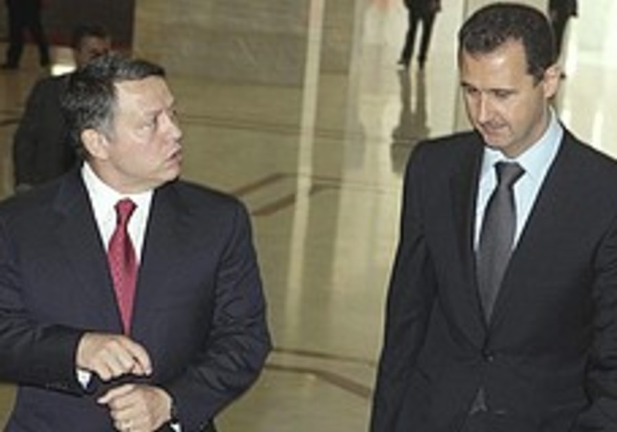 Jordan's Abdullah woos Assad in peace push