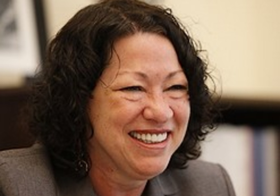 Justice-to-be Sonia Sotomayor and the menora