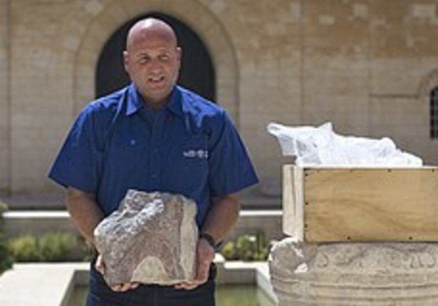 New Yorker with guilty conscience returns stone taken from J'lem dig