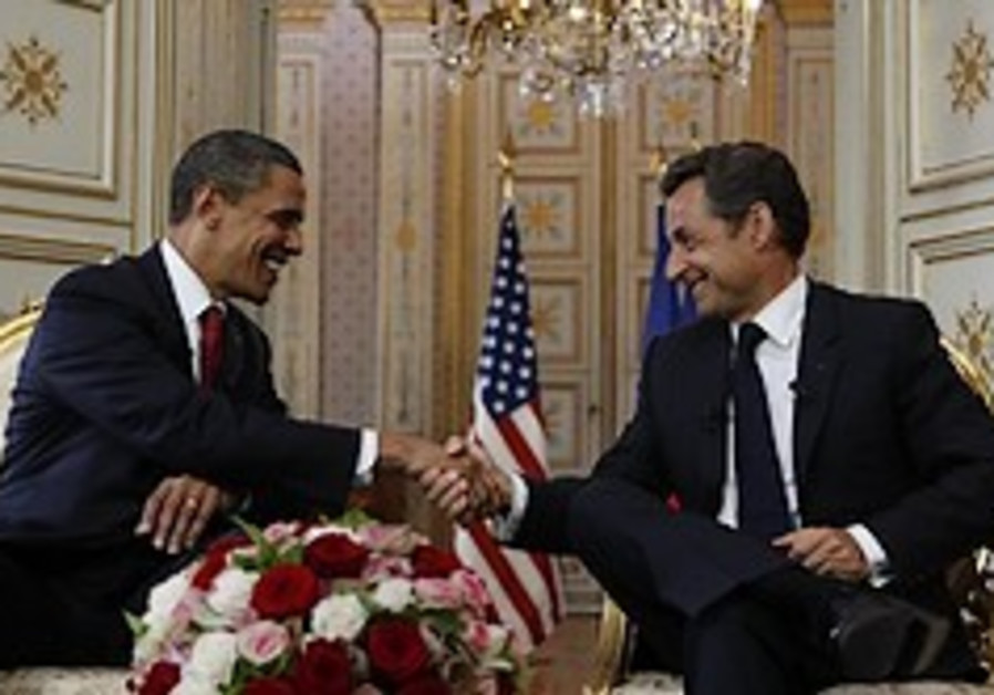 Sarkozy backs Obama's settlement call