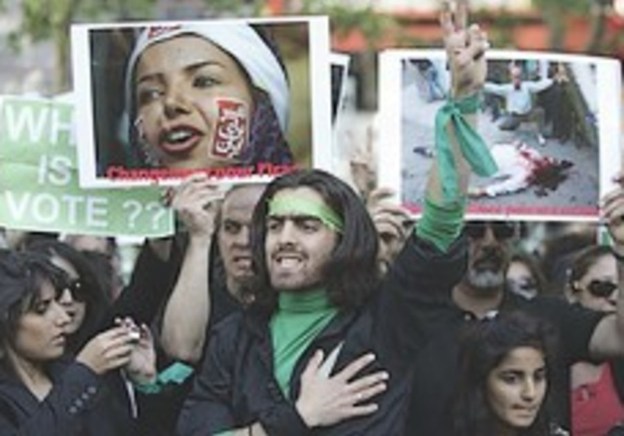 Europeans protest Iranian crackdown