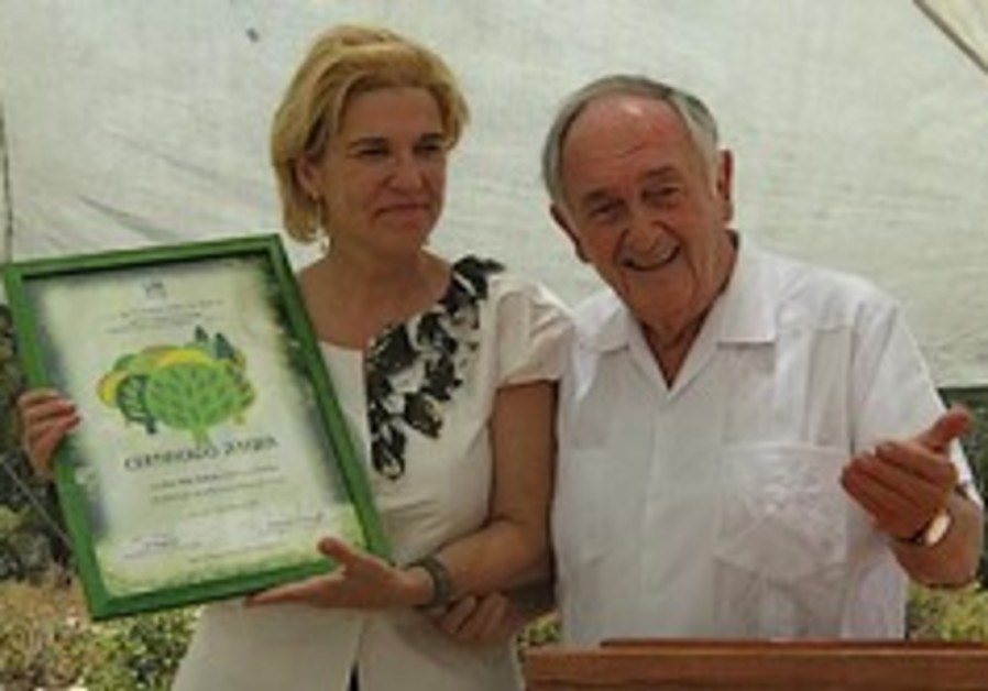 """""""Trees are Stronger than Bombs"""": Pilar Rahola Plants Tree at KKL-JNF's Kennedy Memorial Site"""