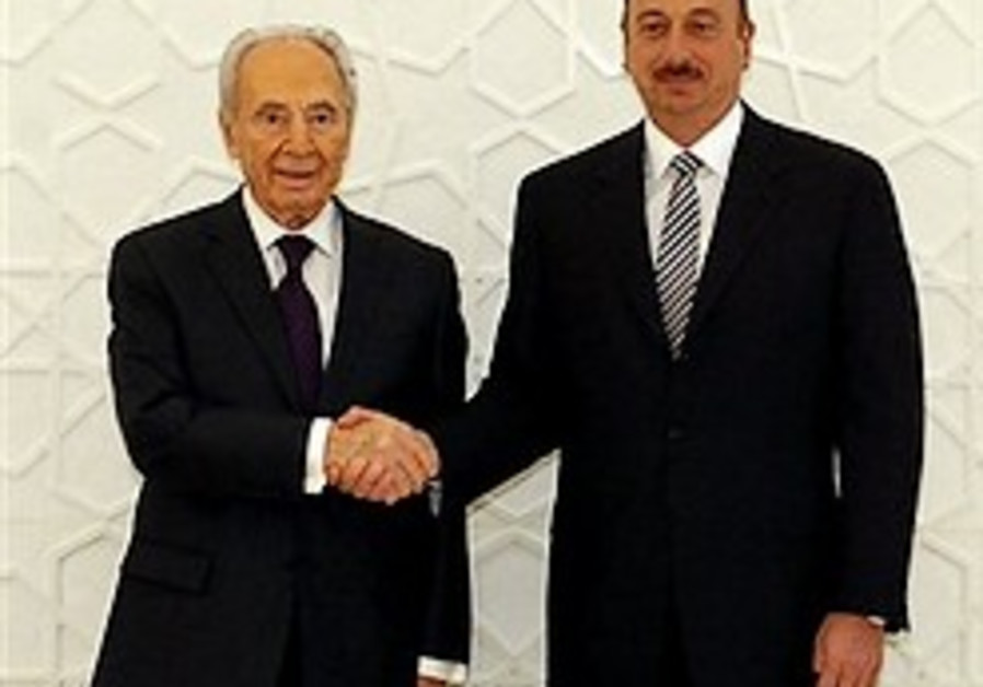Looking Eastward: Peres proves a hit in Azerbaijan